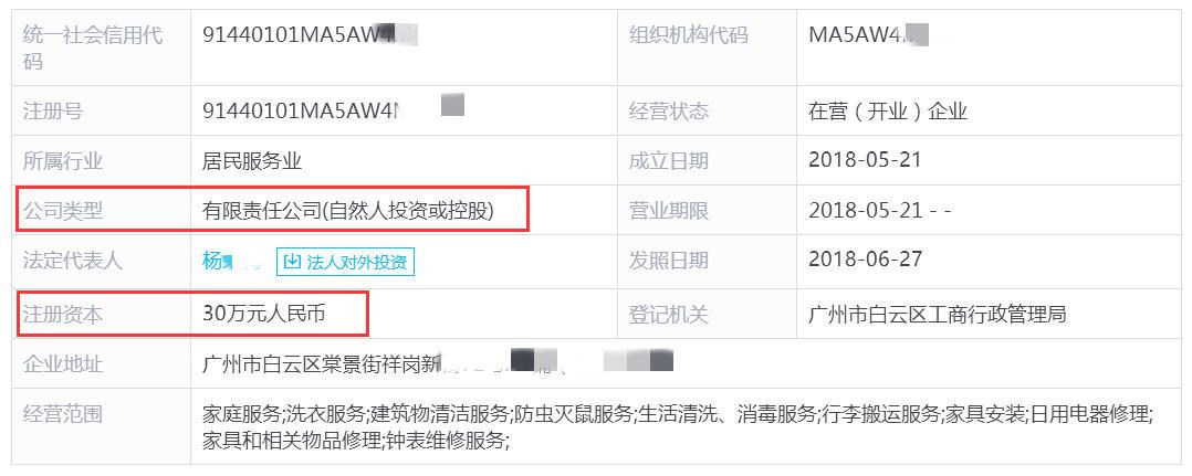 在广州想开一家家政公司,基本注册资金需要多少